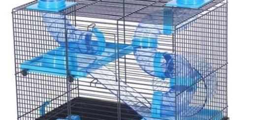 Inter zoo klatka dla dla chomika Teddy z platformą i tunelami , różne kolory